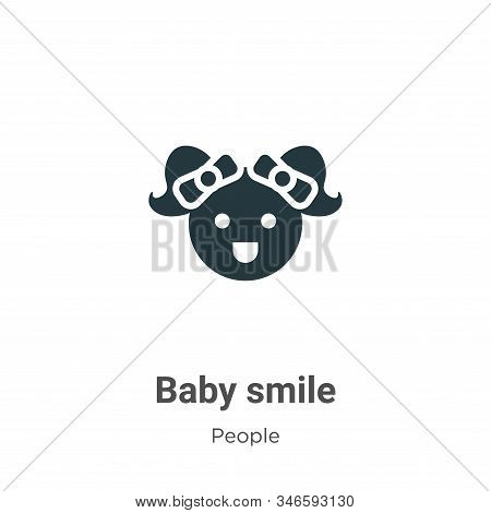 Baby smile icon isolated on white background from people collection. Baby smile icon trendy and mode