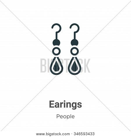 Earings icon isolated on white background from people collection. Earings icon trendy and modern Ear