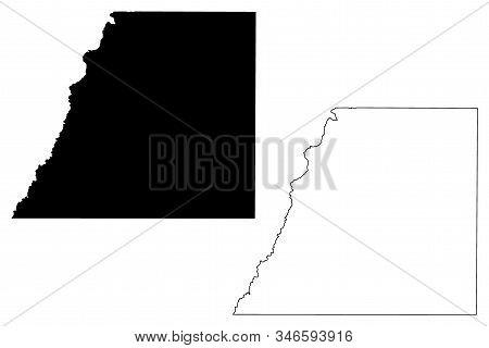 Douglas County, Colorado (u.s. County, United States Of America,usa, U.s., Us) Map Vector Illustrati