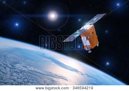 Satellite For Studying The Atmosphere And Hydrosphere In The Low Orbit Of Planet Earth. Elements Of