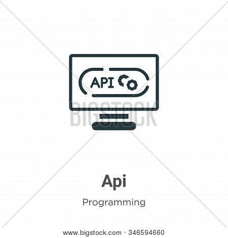 Api icon isolated on white background from programming collection. Api icon trendy and modern Api sy