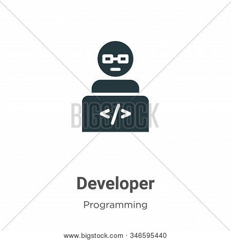 Developer icon isolated on white background from programming collection. Developer icon trendy and m