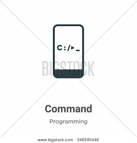 Command Glyph Icon Vector On White Background. Flat Vector Command Icon Symbol Sign From Modern Prog