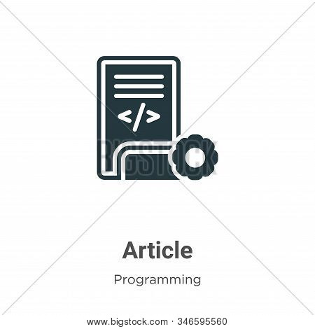 Article icon isolated on white background from programming collection. Article icon trendy and moder