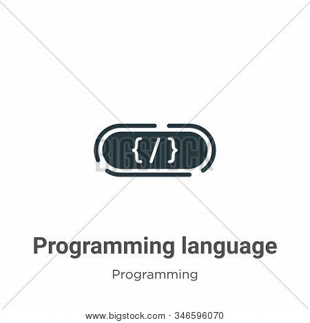 Programming language icon isolated on white background from programming collection. Programming lang