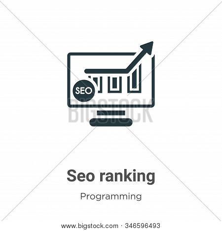 Seo ranking icon isolated on white background from programming collection. Seo ranking icon trendy a