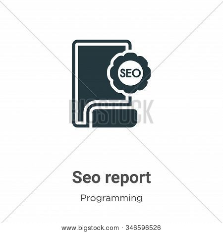 Seo report icon isolated on white background from programming collection. Seo report icon trendy and