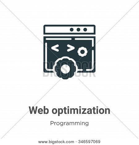 Web optimization icon isolated on white background from programming collection. Web optimization ico