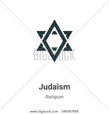 Judaism Glyph Icon Vector On White Background. Flat Vector Judaism Icon Symbol Sign From Modern Reli