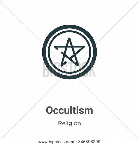Occultism icon isolated on white background from religion collection. Occultism icon trendy and mode