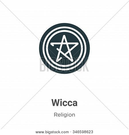 Wicca icon isolated on white background from religion collection. Wicca icon trendy and modern Wicca