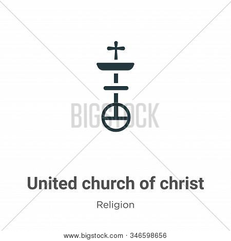 United Church Of Christ Glyph Icon Vector On White Background. Flat Vector United Church Of Christ I