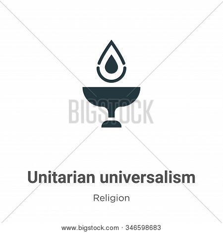 Unitarian Universalism Glyph Icon Vector On White Background. Flat Vector Unitarian Universalism Ico