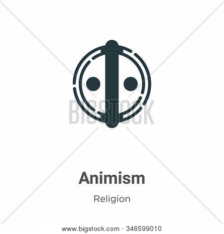 Animism Glyph Icon Vector On White Background. Flat Vector Animism Icon Symbol Sign From Modern Reli