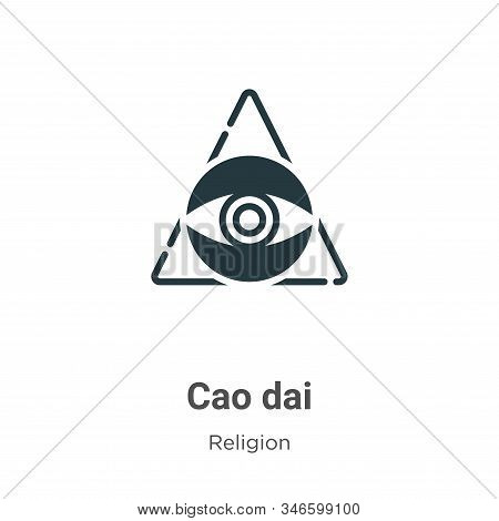 Cao dai icon isolated on white background from religion collection. Cao dai icon trendy and modern C