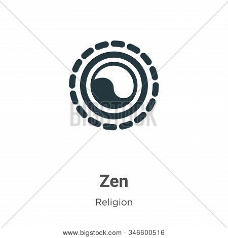Zen icon isolated on white background from religion collection. Zen icon trendy and modern Zen symbo