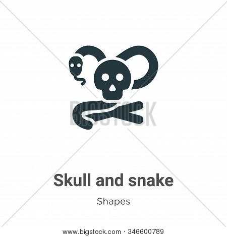 Skull and snake icon isolated on white background from shapes collection. Skull and snake icon trend