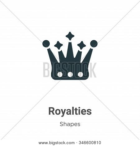 Royalties icon isolated on white background from shapes collection. Royalties icon trendy and modern