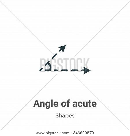Angle of acute icon isolated on white background from shapes collection. Angle of acute icon trendy