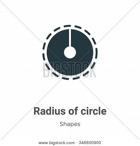 Radius of circle icon isolated on white background from shapes collection. Radius of circle icon tre