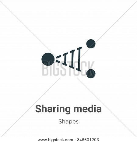 Sharing media icon isolated on white background from shapes collection. Sharing media icon trendy an