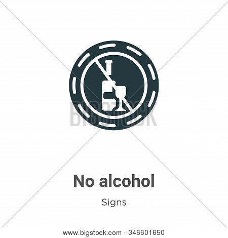 No alcohol icon isolated on white background from signs collection. No alcohol icon trendy and moder