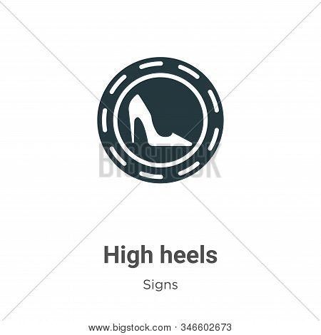 High heels icon isolated on white background from signs collection. High heels icon trendy and moder