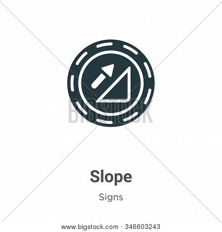 Slope icon isolated on white background from signs collection. Slope icon trendy and modern Slope sy