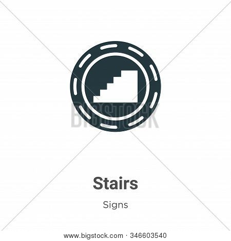 Stairs icon isolated on white background from signs collection. Stairs icon trendy and modern Stairs