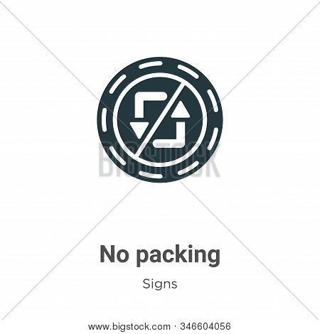 No packing icon isolated on white background from signs collection. No packing icon trendy and moder