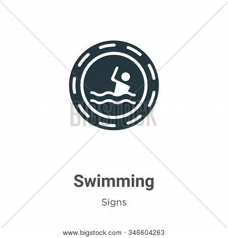 Swimming icon isolated on white background from signs collection. Swimming icon trendy and modern Sw