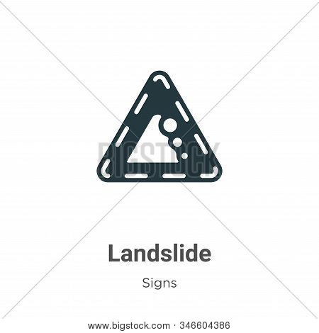 Landslide icon isolated on white background from signs collection. Landslide icon trendy and modern
