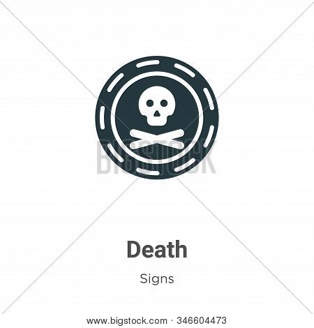 Death icon isolated on white background from signs collection. Death icon trendy and modern Death sy