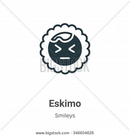 Eskimo Glyph Icon Vector On White Background. Flat Vector Eskimo Icon Symbol Sign From Modern Smiley