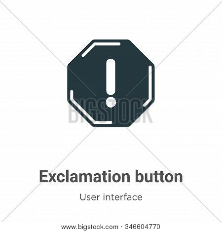 Exclamation button icon isolated on white background from user interface collection. Exclamation but