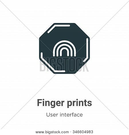 Finger prints icon isolated on white background from user interface collection. Finger prints icon t
