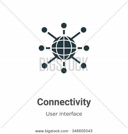 Connectivity icon isolated on white background from user interface collection. Connectivity icon tre