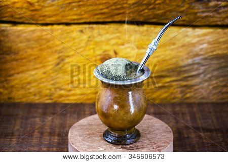 Chimarrão, or mate herb, is a South American drink left by indigenous cultures. It consists of a gou