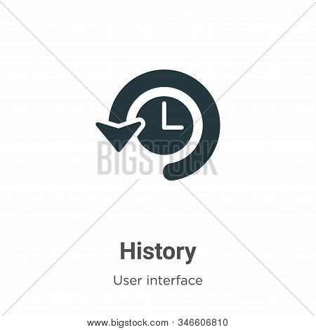History icon isolated on white background from user interface collection. History icon trendy and mo
