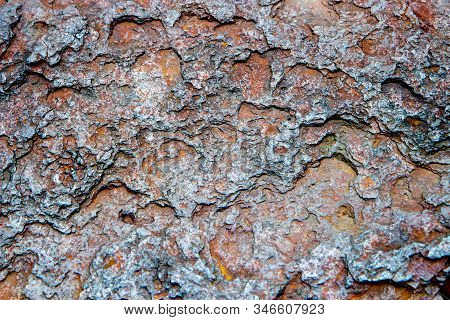 Brown Oxidized Or Oxide Rusty Wall, Surface Or Floor With Rust For  Architecture Resource