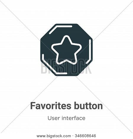 Favorites button icon isolated on white background from user interface collection. Favorites button