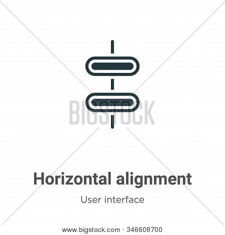 Horizontal alignment icon isolated on white background from user interface collection. Horizontal al