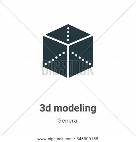 3d modeling icon isolated on white background from general collection. 3d modeling icon trendy and m