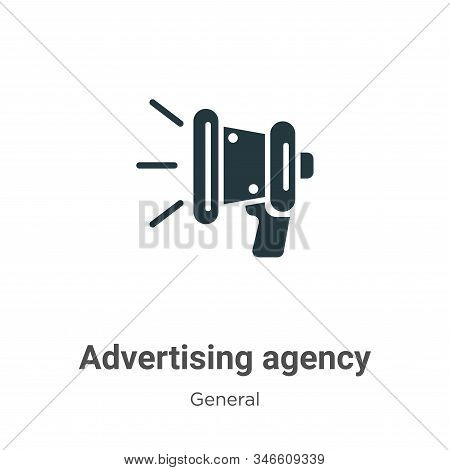 Advertising agency icon isolated on white background from general collection. Advertising agency ico