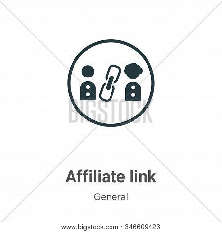Affiliate link icon isolated on white background from general collection. Affiliate link icon trendy
