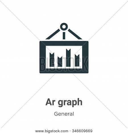 Ar graph icon isolated on white background from general collection. Ar graph icon trendy and modern
