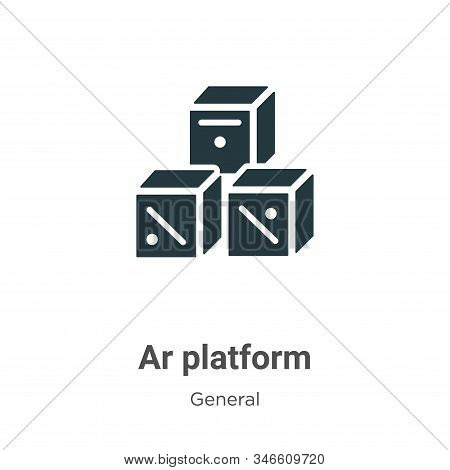 Ar platform icon isolated on white background from general collection. Ar platform icon trendy and m
