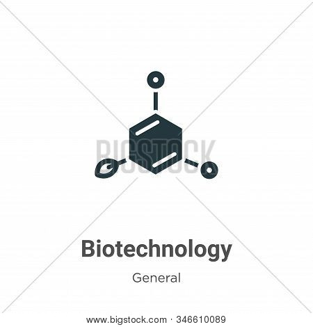 Biotechnology Glyph Icon Vector On White Background. Flat Vector Biotechnology Icon Symbol Sign From