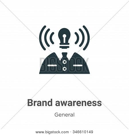 Brand awareness icon isolated on white background from general collection. Brand awareness icon tren