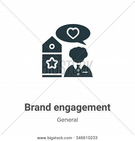 Brand engagement icon isolated on white background from general collection. Brand engagement icon tr